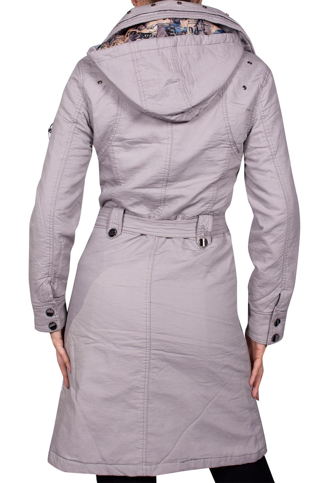 designer damen wintermantel warm jacke lang cotton mantel parka kapuze ebay. Black Bedroom Furniture Sets. Home Design Ideas