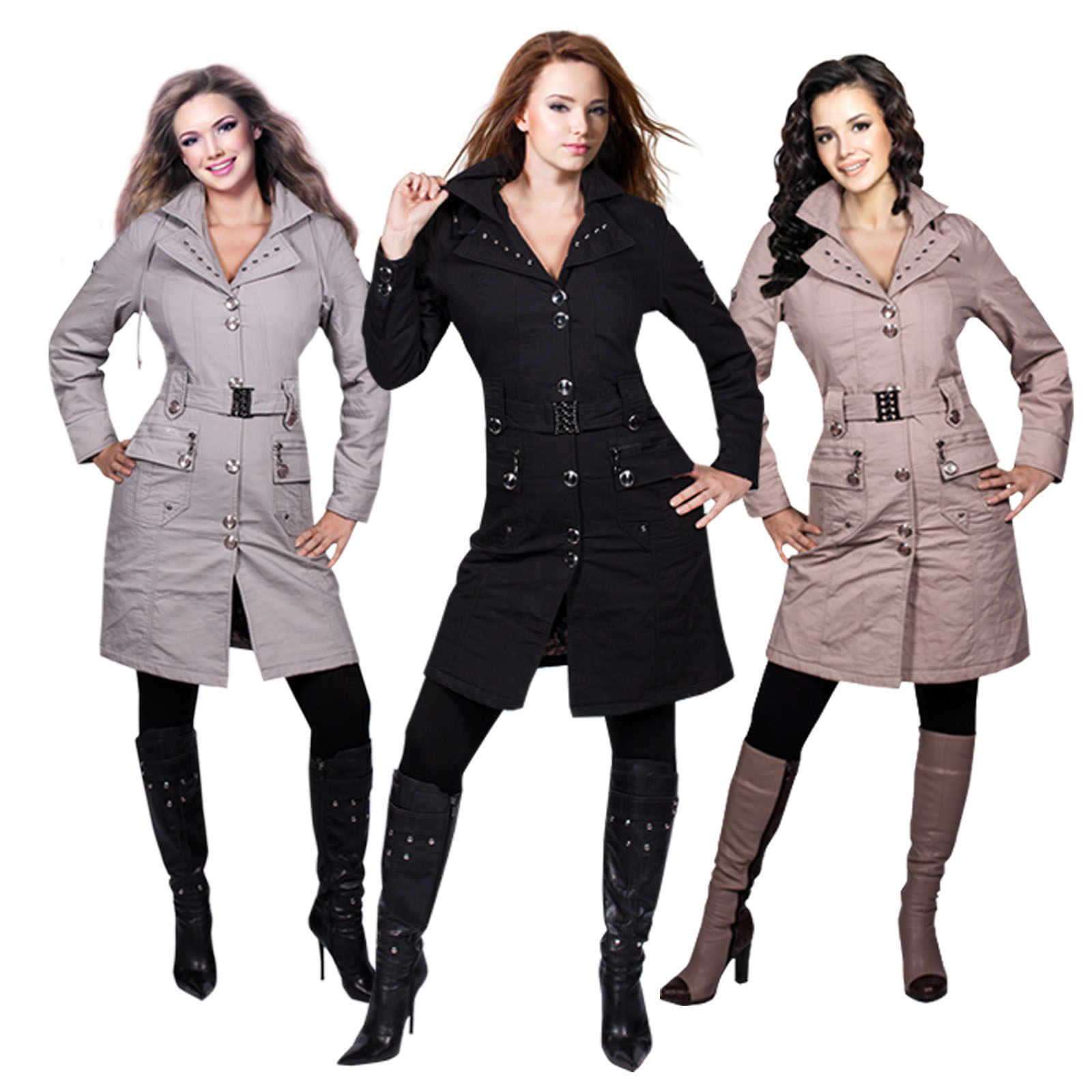 luxus damen wintermantel warm jacke lang cotton mantel parka kapuze s m l xl neu ebay. Black Bedroom Furniture Sets. Home Design Ideas