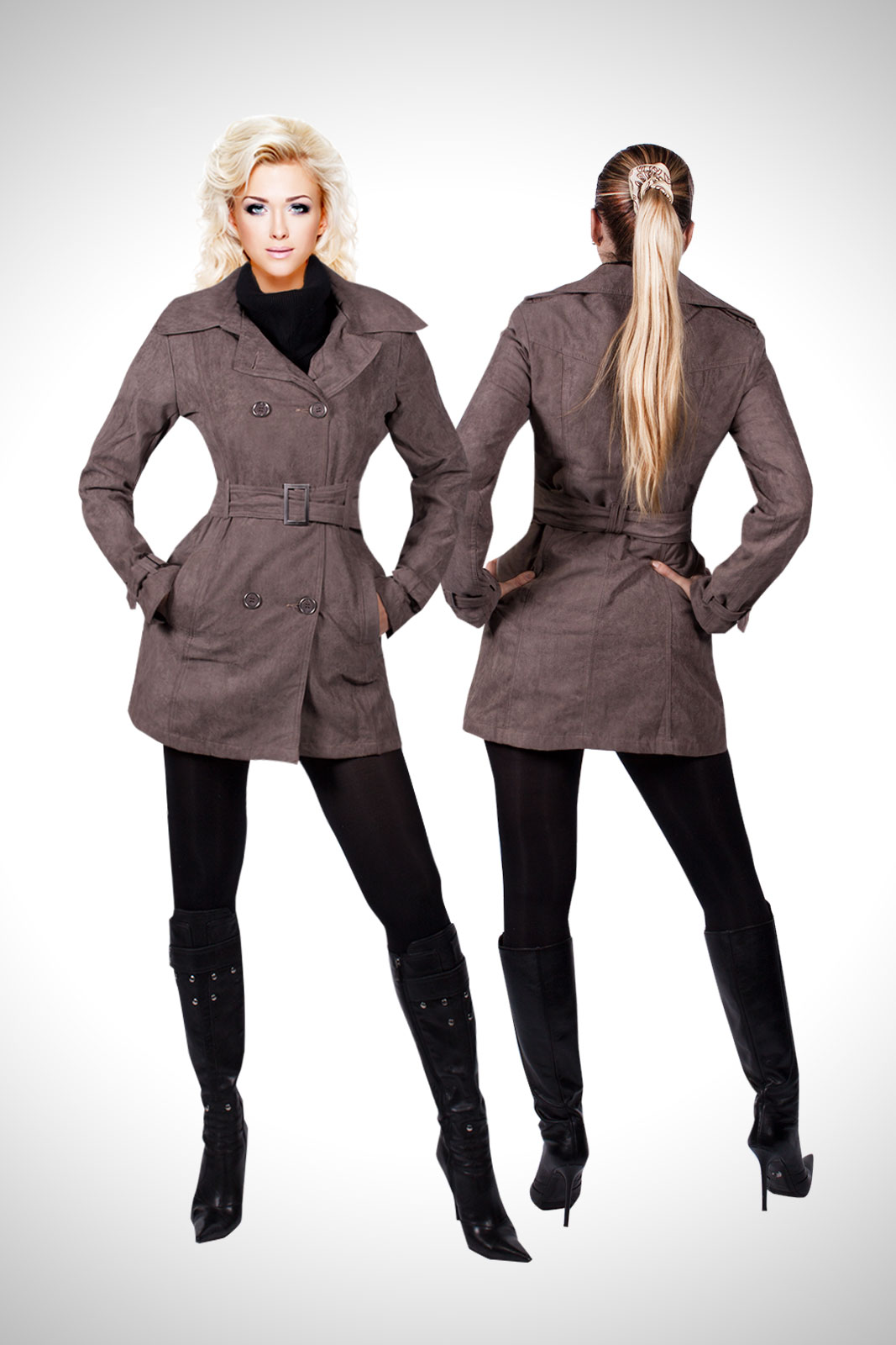 trendige trenchcoat damen jacke bergangsjacke. Black Bedroom Furniture Sets. Home Design Ideas