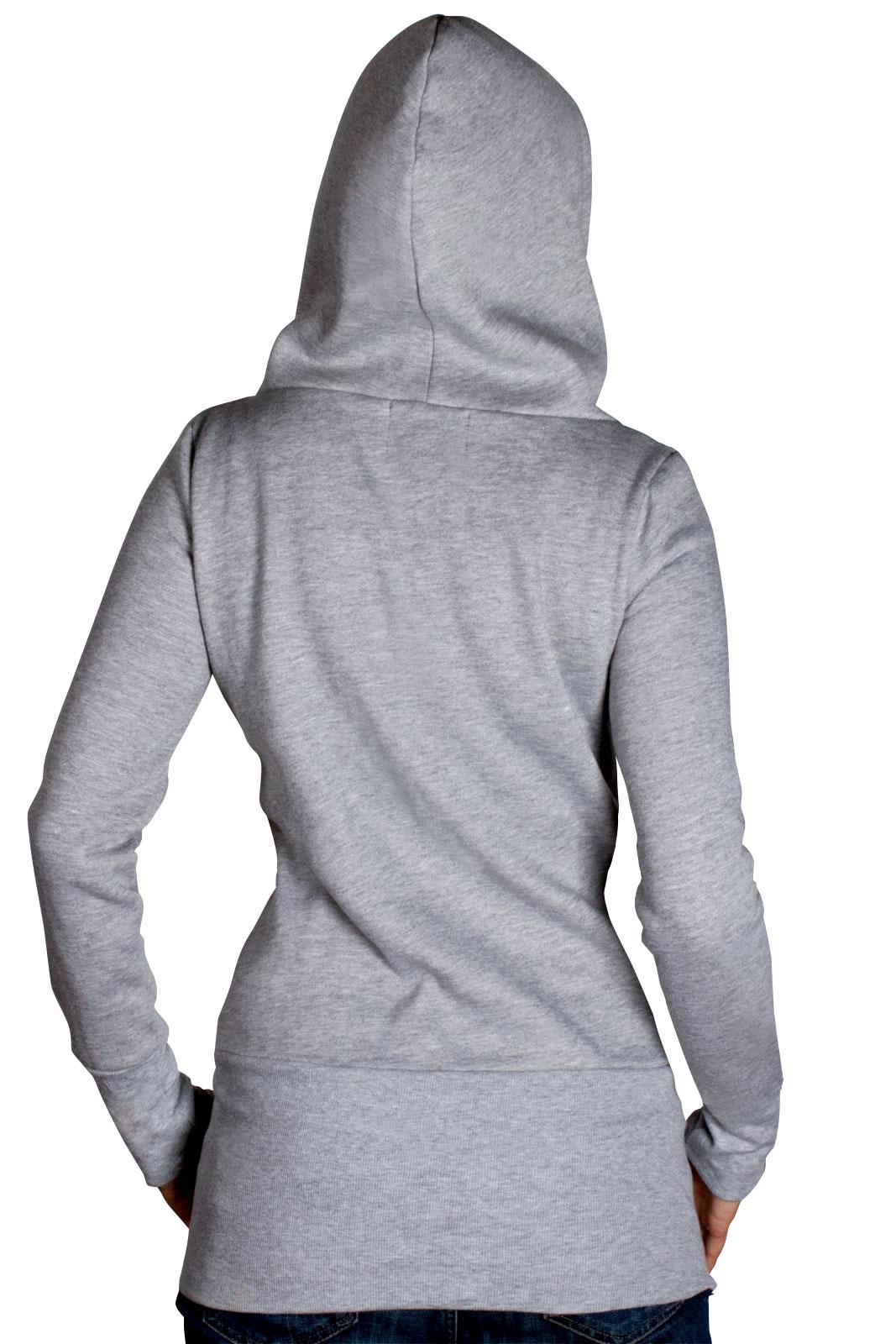 womens hoodie hooded sweater coat hooded sweater jacket. Black Bedroom Furniture Sets. Home Design Ideas
