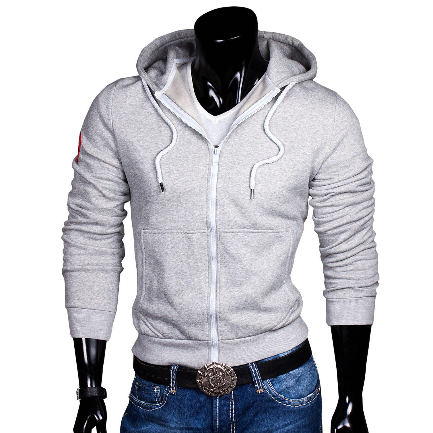 kapuzen pullover sweat hoodie jacke pulli herren sweatjacke zipper hoody grau xl ebay. Black Bedroom Furniture Sets. Home Design Ideas