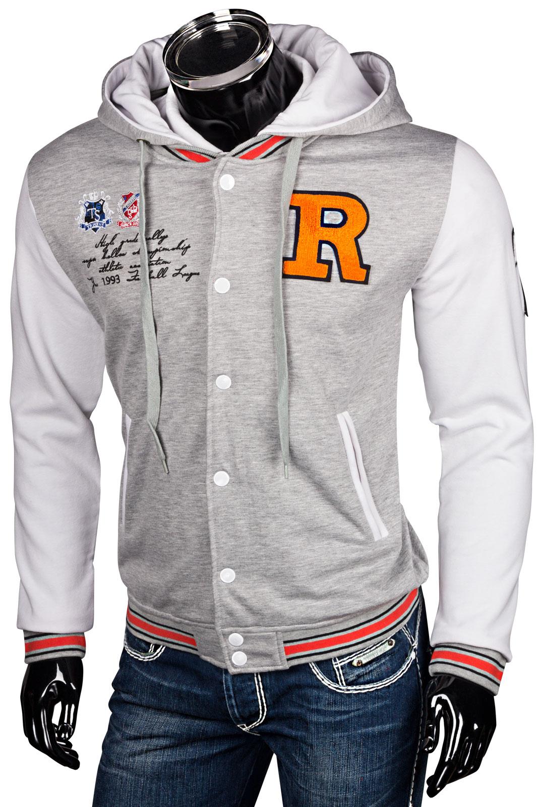 Trisens hoodie oldschool kapuzen college jacke sweatjacke baseball sportjacke - Rote college jacke ...